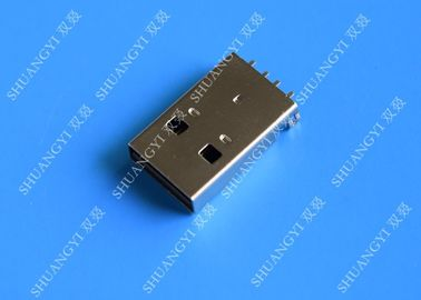 ประเทศจีน USB 2.0 A Male USB Charging Connector , Plug Jack Mounting Solder 4 Pin PCB Connector ผู้ผลิต