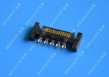 ประเทศจีน PCB Slimline SATA Connector Voltage 125V AC Small Footprint Design ผู้ผลิต