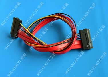 ประเทศจีน Red SATA Data Cable Slimline SATA To SATA Female / Male Adapter With Power ผู้ผลิต